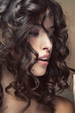 Preview iPhone wallpaper Woman, hairstyle, curly hair