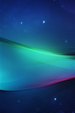 Preview iPhone wallpaper Abstract waves, curves, colorful