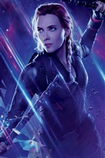 Preview iPhone wallpaper Black Widow, movie 2020