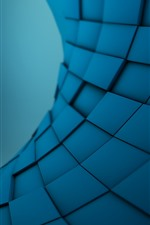 Preview iPhone wallpaper Blue squares, abstract picture