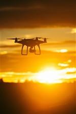 Drone, pôr do sol