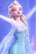 Preview iPhone wallpaper Frozen, Elsa, Disney movie