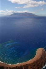 Preview iPhone wallpaper Island, sea, top view