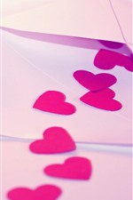Preview iPhone wallpaper Letter, love hearts