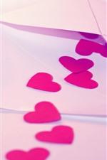 Aperçu iPhone fond d'écranLettre, coeurs d'amour