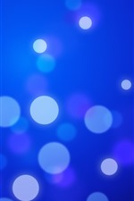 Light circles, blue background