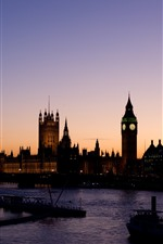 Preview iPhone wallpaper London, river, bridge, boats, Big Ben