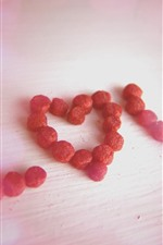 Preview iPhone wallpaper Love, dried fruit
