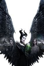 Preview iPhone wallpaper Maleficent: Mistress of Evil, Angelina Jolie