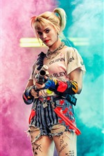 Preview iPhone wallpaper Margot Robbie, Harley Quinn: Birds of Prey