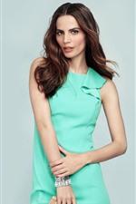 Preview iPhone wallpaper Model girl, green skirt