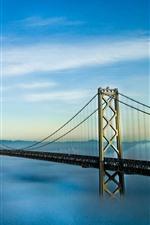 Preview iPhone wallpaper Oakland, bay, bridge, San Francisco, USA