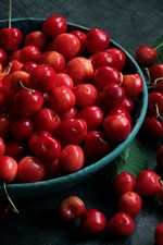 Preview iPhone wallpaper One bowl of cherries, fruit