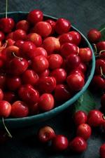 One bowl of cherries, fruit
