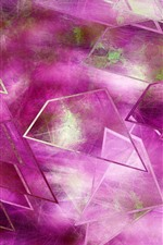 Preview iPhone wallpaper Pink glass, abstract