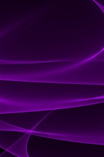 Preview iPhone wallpaper Purple curves, abstract background