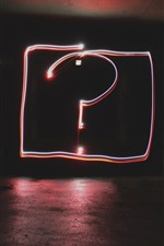Preview iPhone wallpaper Question mark, neon