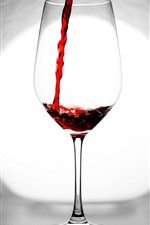 Red wine, glass cup, backlight