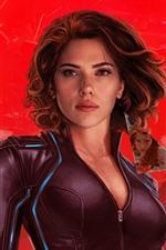 Preview iPhone wallpaper Scarlett Johansson, Black Widow 2020