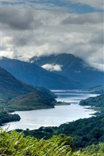 Preview iPhone wallpaper Scotland, mountains, river, clouds, nature landscape