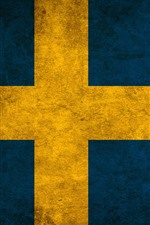 Preview iPhone wallpaper Sweden flag