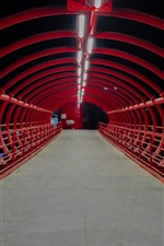 Preview iPhone wallpaper Tunnel, bridge, night