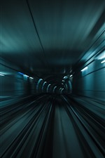 Preview iPhone wallpaper Tunnel, lights, speed