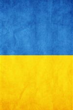 Preview iPhone wallpaper Ukraine flag