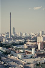 Preview iPhone wallpaper Yekaterinburg, city, buildings, roads, Russia