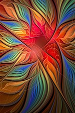 Preview iPhone wallpaper Abstract flower, colorful petals, creative design