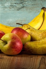 Preview iPhone wallpaper Apples, pears, bananas