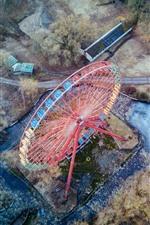 Preview iPhone wallpaper Ferris wheel, top view