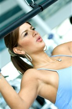 Fitness girl, trainer