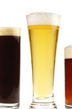 Preview iPhone wallpaper Five cups beer, foam, drinks