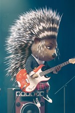 Preview iPhone wallpaper Hedgehog, sing, bess, cartoon movie