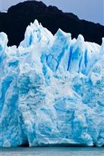 Patagonia, glacier, ice, blue