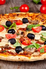 Pizza, delicious food, tomatoes