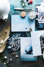 Postcards, Christmas, raspberry, cup, kettle