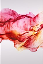 Preview iPhone wallpaper Red silks, flying, abstract