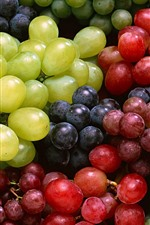 Preview iPhone wallpaper Some different grapes, red, green, black