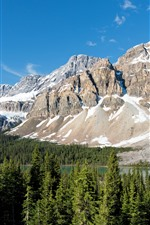Preview iPhone wallpaper Banff National Park, mountain, snow, forest, trees, lake, Canada