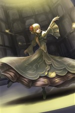 Preview iPhone wallpaper Beautiful dancing girl, blonde, fantasy, art picture