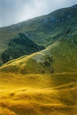 Preview iPhone wallpaper Beautiful mountain scenery, meadow, green