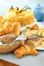 Preview iPhone wallpaper Bread and cake, breakfast