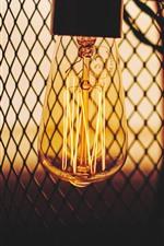 Preview iPhone wallpaper Bulb, lights, mesh, dusk