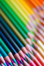 Preview iPhone wallpaper Colorful pencils, rainbow colors, curve