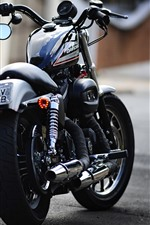 Preview iPhone wallpaper Harley-Davidson motorcycle back view