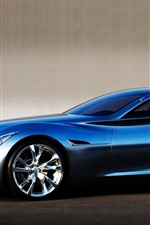 Preview iPhone wallpaper Infiniti blue supercar side view