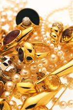 Preview iPhone wallpaper Jewelry, gold, ring, pearl