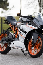 Preview iPhone wallpaper KTM motorcycle side view, road